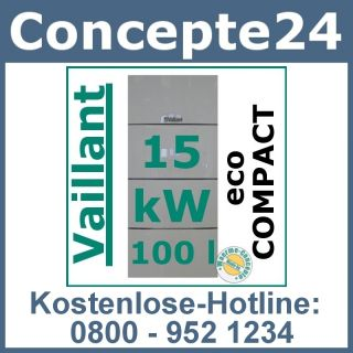 Vaillant ecoCompact VSC 126/3 5 15 kW Gas Brennwert Gasheizung