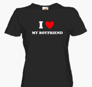 LOVE MY BOYFRIEND Girlie Shirt S L Sport & Freizeit