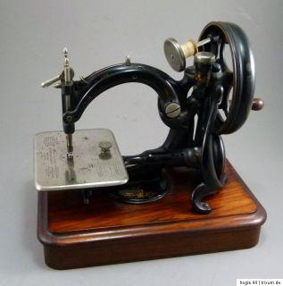 Klassiker  Sehr frühe WILLCOX & GIBBS Nähmaschine 1877 / sewing