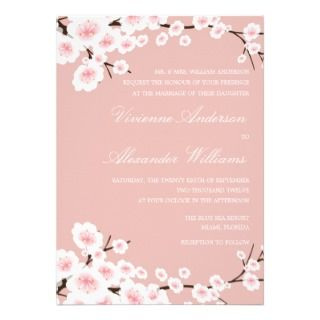CHERRY BLOSSOMS  WEDDING INVITATION invitation