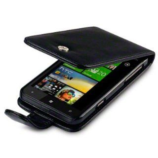 HTC TITAN HANDY LEDER TASCHE CASE HÜLLE IN SCHWARZ +