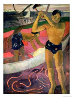 The Man with an Axe, 1891 Giclee Print by Paul Gauguin