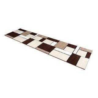 Teppich Läufer Lano braun in 80 x 300 cm Küche