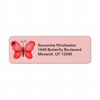 Buerfly Reurn Address Labels