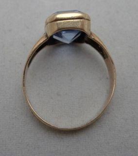 Goldener Ring mit Stein / Goldring / 333 Gold geprüft