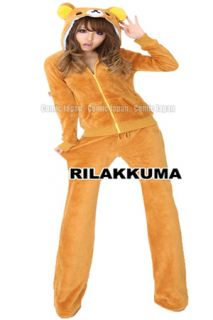 Sexy Parka Dress Kigurumi Rilakkuma Fancy Parka Suit Long Pants