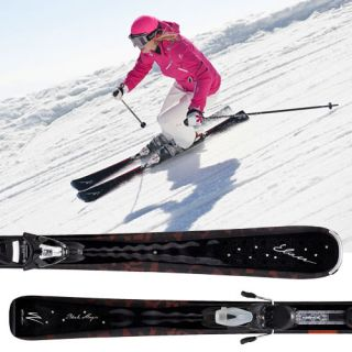 ELAN DAMEN CARVING SKI BLACK MAGIC 146 CM + ELW 9.0 AC4P4711