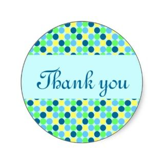 Blue Polka dot boys Thank you greeting card