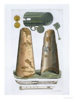 Viking Artifacts, Elsevir, Denmark, Le Costume Ancien et Moderne, c.1820 30 Giclee Print by Vittorio Raineri