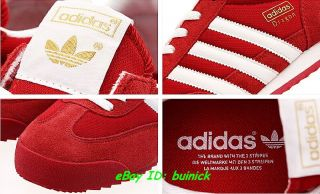 ADIDAS DRAGON Trainers Red White Suede Mesh rom marathon new UK8