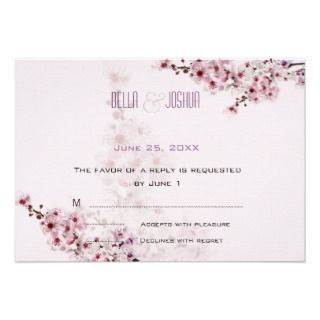 Cherry Branches Wedding Stickers