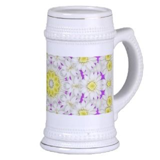 White Ceramic Beer Stein Mug