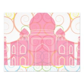 Pink Taj Mahal Personalized Announcement