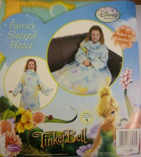 TinkerBell Fairies KIDS/CHILDRENS SOFT Sleeved FLEECE THROW BLANKET