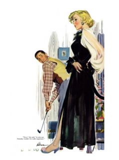 No Man Around The House    Saturday Evening Post Leading Ladies, August 13, 1955 pg.31 Giclee Print by Perry Peterson