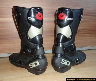 SIDI Racing Motorradstiefel schwarz 42  Motorcycle boots 8  Sport