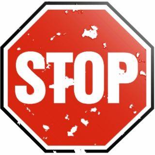 STOP sign   Photo Sculpture