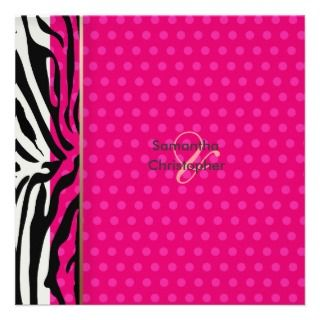Zebra stripes/Wedding Invitations/polka dots