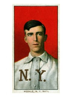 New York City, NY, New York Giants, Fred Merkle, Baseball Card Posters