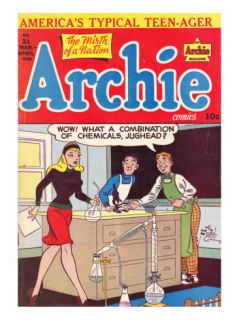 Archie Comics Retro Archie Comic Book Cover #31 (Aged) Poster by Al Fagaly