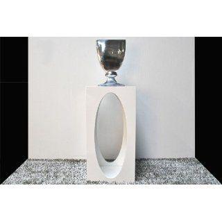 Design Konsole Tisch VENT 45x45x90cm hochglanz Weiß