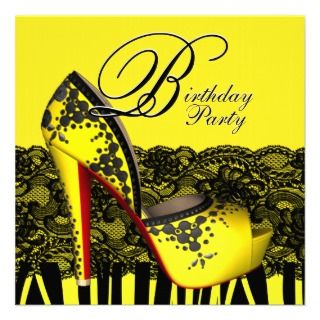 invitations this beautiful black and yellow birthday party invitation