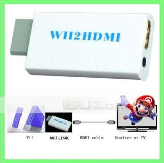 Wii to HDMI Wii2hdmi 3.5mm Audio Converter Adapter Box Wii link