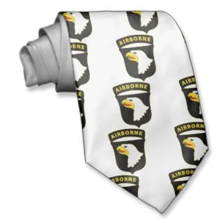 US Army 101st Airborne Div Combat Service Badge Neckties