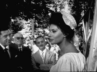 Actress Sophia Loren in Costume Between Takes During Location Filming of Madame Sans Gene Premium Photographic Print by Alfred Eisenstaedt