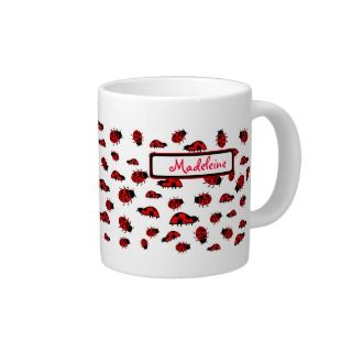 Cute Ladybug Gifts Custom Name Lady Bugs Jumbo Mug