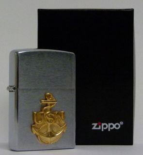 ZIPPO Feuerzeug   USN   Anchor US Navi (161) Crome 2002