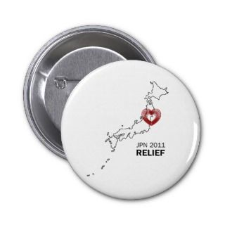 Japan 2011 Earthquake tsunami relief Buttons