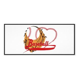 Love Baseball   Ball, Bat, Baseball Glove Custom Rack Cards