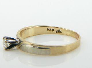 RING 585er Gold Solitär Brillant 0,14 ct. GG WG 585 Brillantring