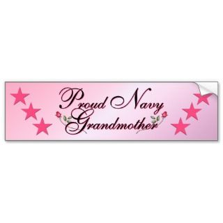 Pink & Proud Navy Grandmother Bumper Sticker