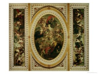 The Whitehall Ceiling the Apotheosis of James I 1632 34 Giclee Print by Peter Paul Rubens