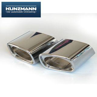 Schätz Chrom Endrohre Blenden Mercedes M Klasse ML W164
