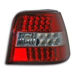 Rückleuchten, LED, VW Golf 4 Bj. 97 03, rot / chrom / rot