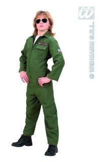 TOP GUN PILOT Flieger Kostüm Fasching Karneval Jungen Gr. 158