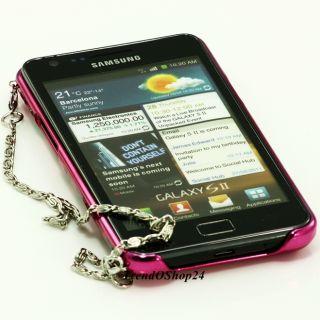 Samsung Galaxy S2 i9100 LEOPARD CHROM PINK STRASS COVER Case Tasche