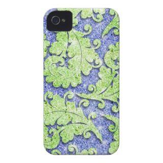 Girly paisley pattern, green & blue glitter photo