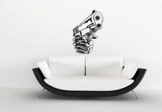 Wandtattoo,Pistole,Tattoo Colt Revolver sticker z 159