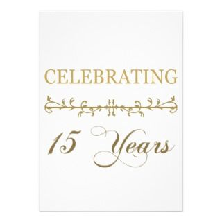 Celebrating 15 Years Personalized Announcements