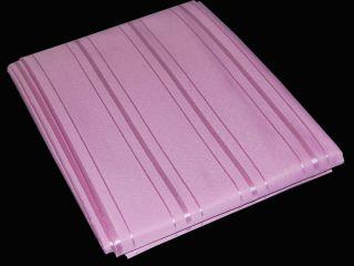 Edler Textil Duschvorhang 180x200 cm Rosa gestreift inkl. Ringe Pink