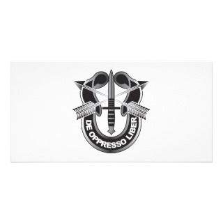 Special Forces Crest, De Oppresson Liber Photo Greeting Card