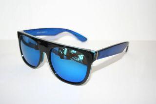 Sonnenbrille Flattop Super Transparent schwarz rot blau lila