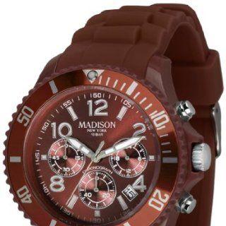 Madison New York Unisex Armbanduhr Candy Chrono Chronograph Silikon