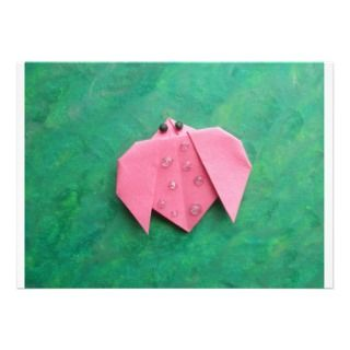 Origami ladybug custom announcements