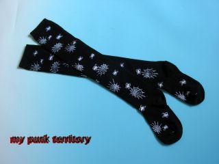 Jrock Fruits Visual Kei Spiderweb FREAK Knee Hi Socks