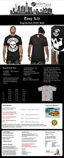 NEU Thug Life T Shirt Skull Tee EST.187 schwarz black Totenkopf